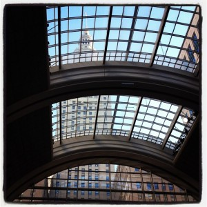 The view from inside Tower City