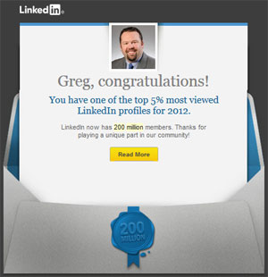 LinkedIn Top 5 Percent In 2012
