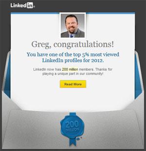 LinkedIn Top 5 Percent In 2012