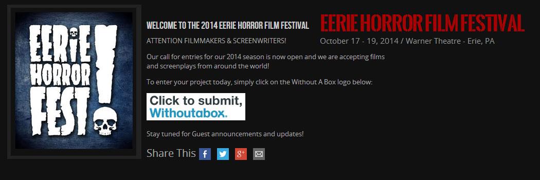 Eerie Horror Film Festival Banner