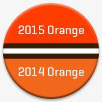 2014 vs. 2015 Cleveland Browns Orange