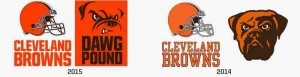 Cleveland Browns Logo Comparison