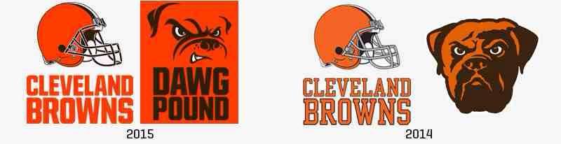 Cleveland Browns Logo Comparison