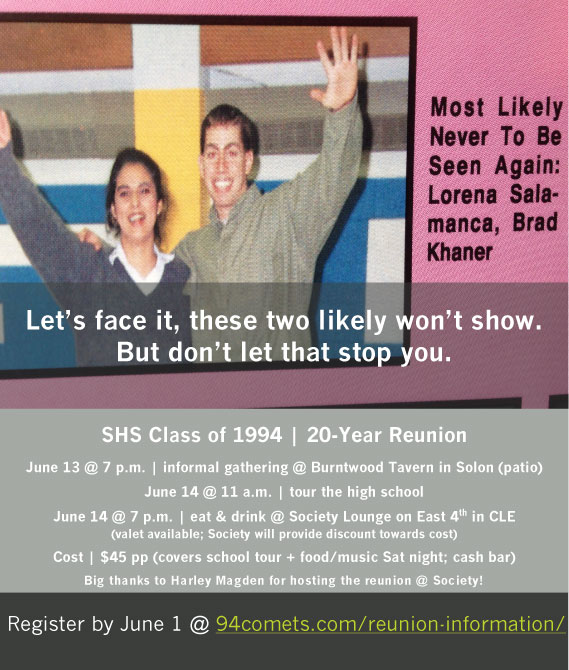 SHS Reunion Information