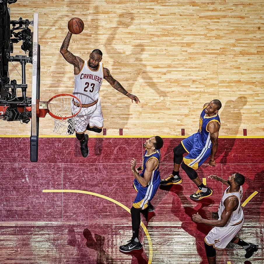 Lebron Game 3 Dunk Cavs FB