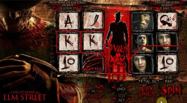 A Nightmare On Elm Street Slot Machine