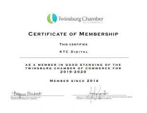 Twinsburg Chamber of Commerce Member 2019-2020