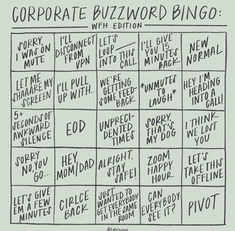 Corporate Buzzword WFH Edition