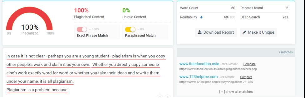 Plagiarized Checker